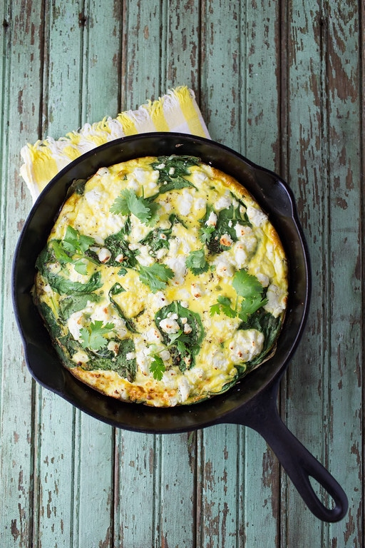 Sweet potatoes & spinach frittata