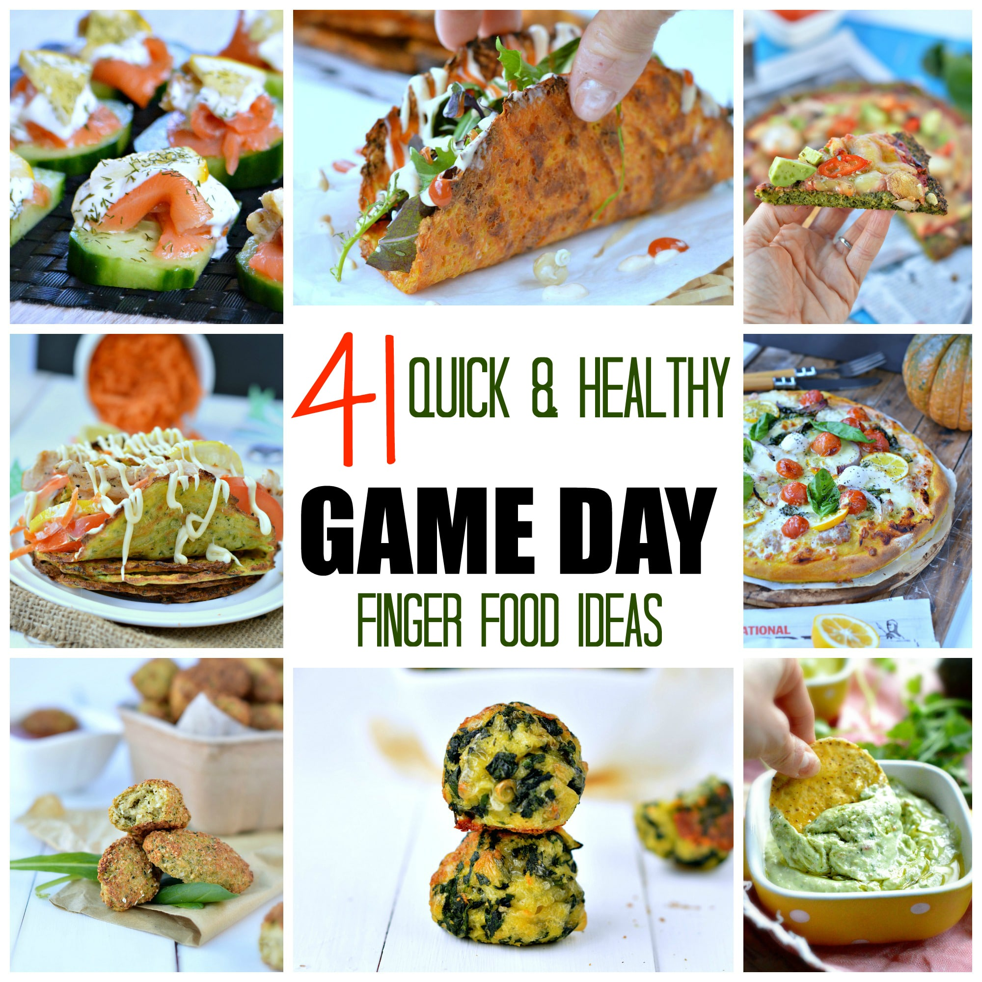 quick game day finger food ideas