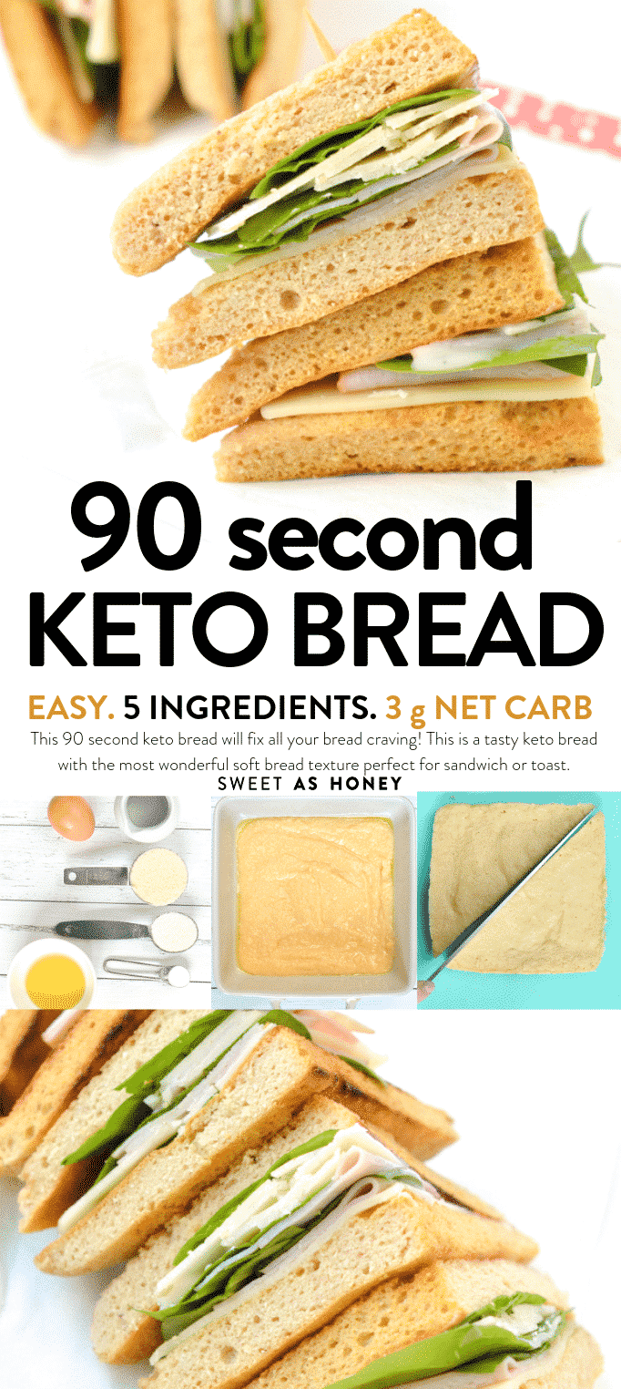 90 Second Keto Bread Microwave Bread Sweetashoney