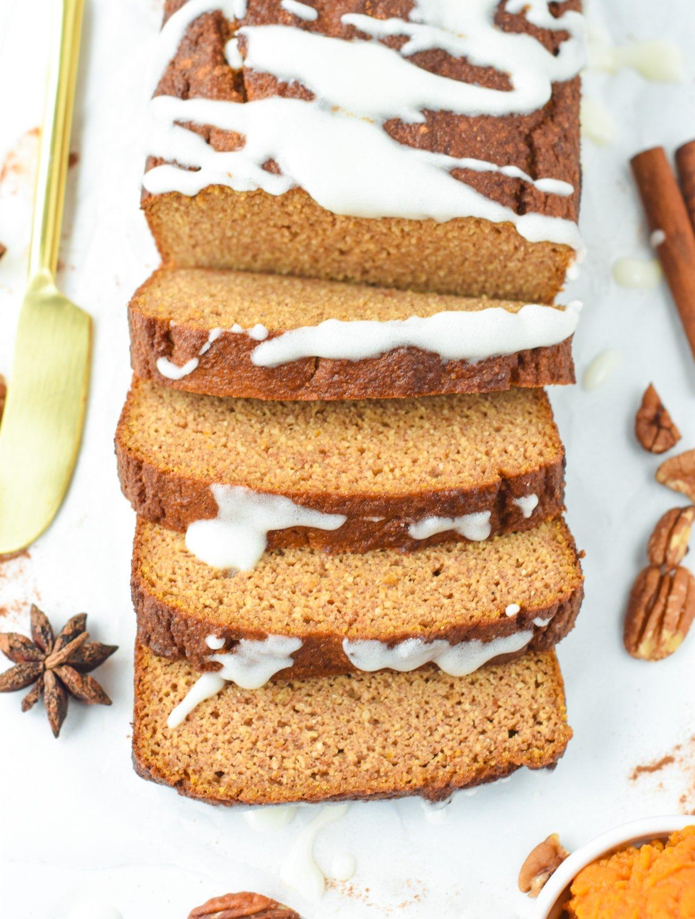 Almond Flour Keto Pumpkin Bread