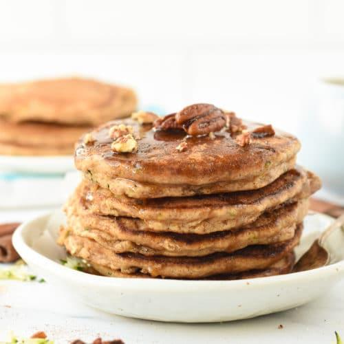Almond Flour Zucchini Pancakes