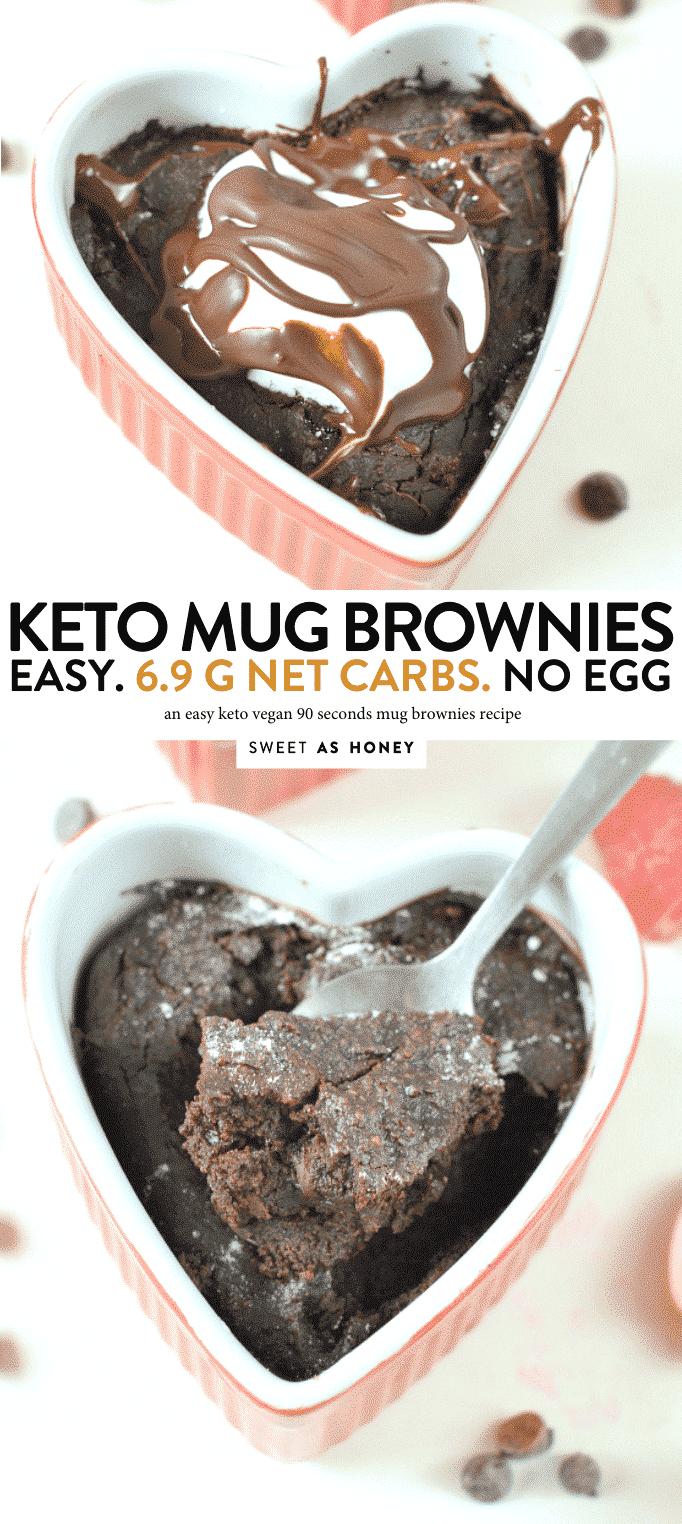 KETO MUG BROWNIES 90 SECONDS ! #ketovegan #keto #ketobrownies #brownies #mugcake #mugbrownies
