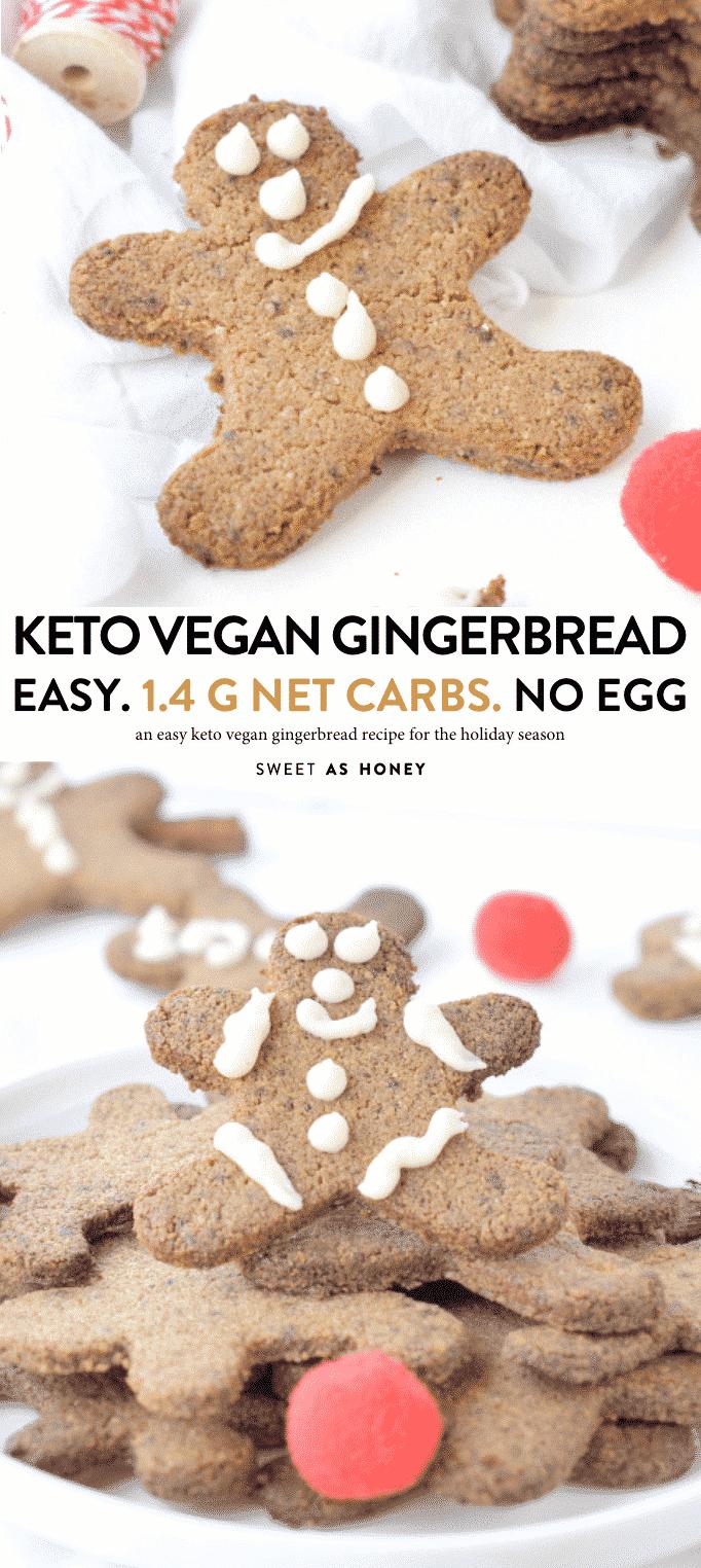 KETO VEGAN GINGERBREAD RECIPE #ketovegan #keto #gingerbread #gingerbreadcookies #cookies