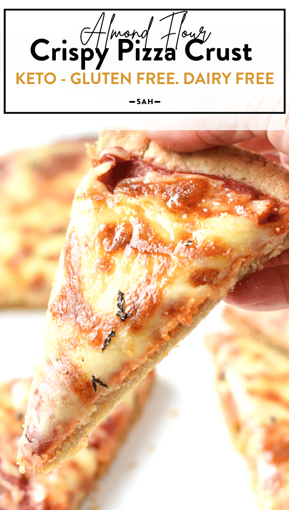 Almond flour gluten free pizza crust