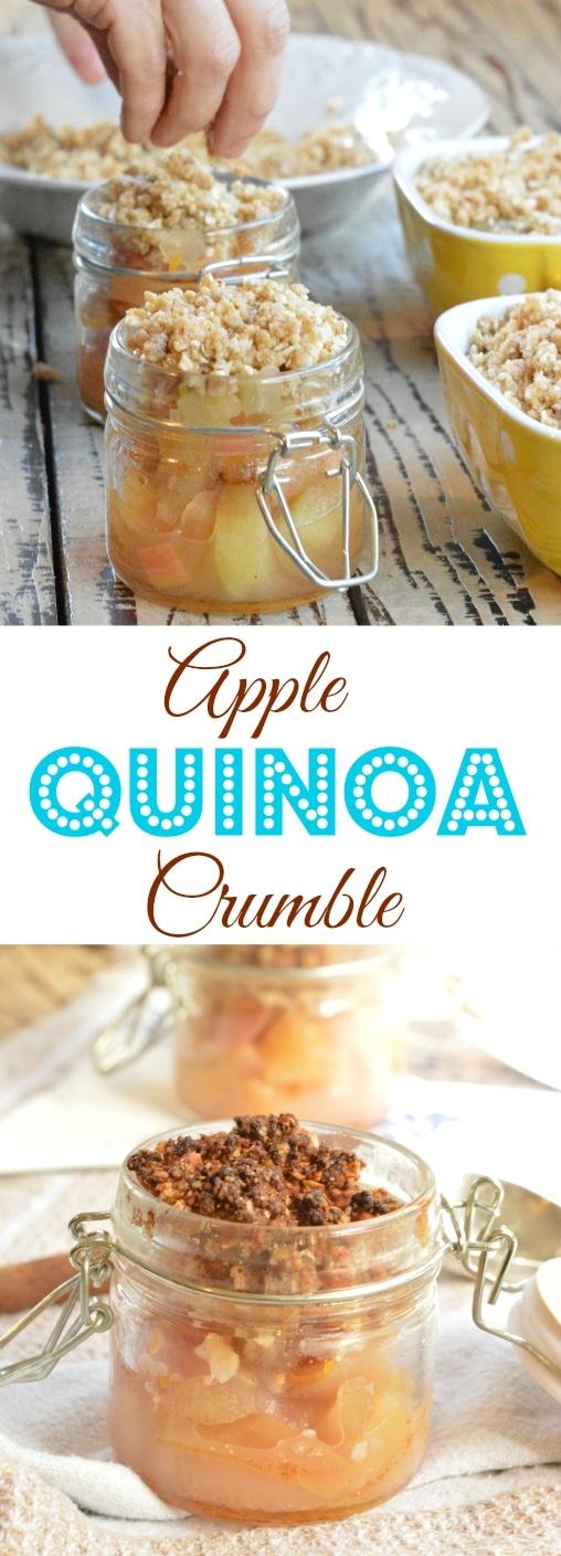 Apple quinoa crumble recipe