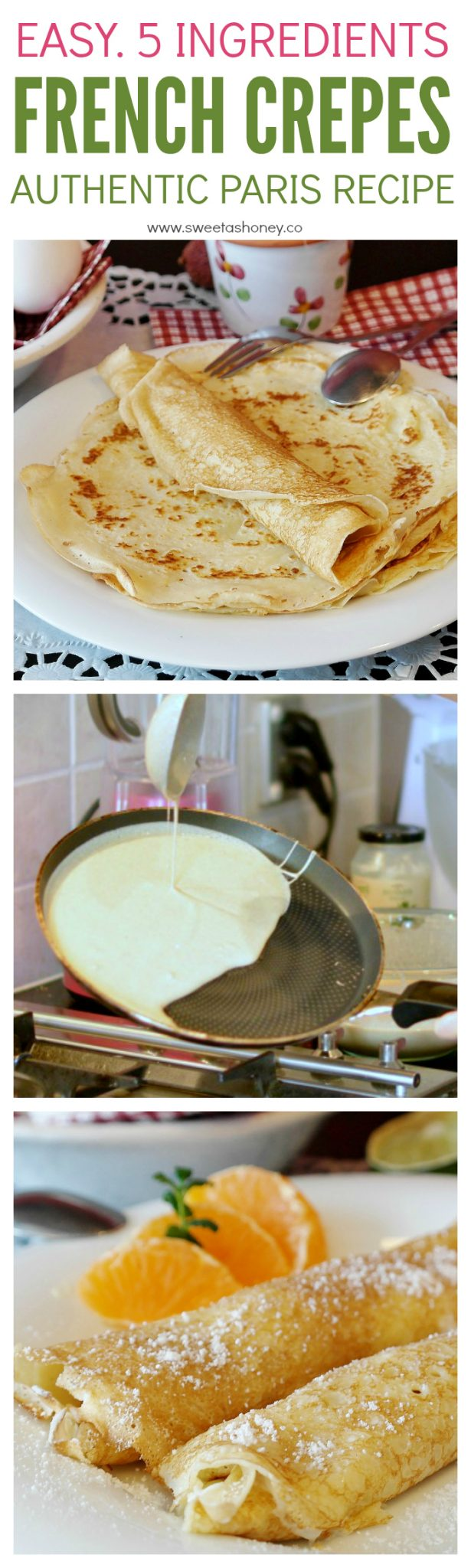 French Crepe Recipe Best Authentic Sweet Crepes