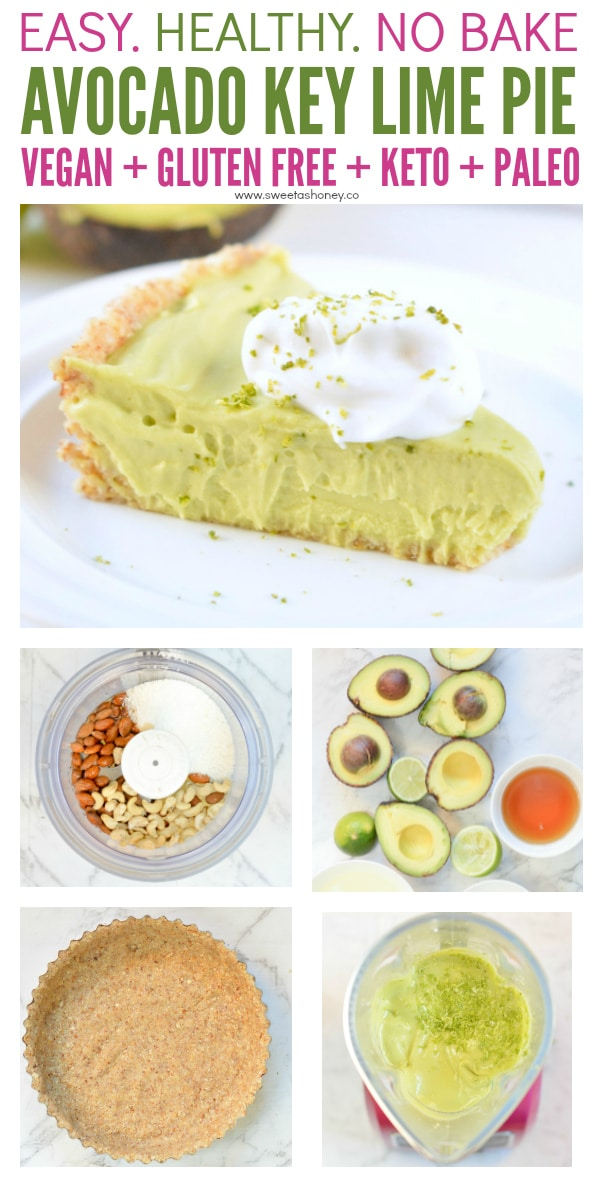 Avocado Key Lime Pie No Bake Vegan
