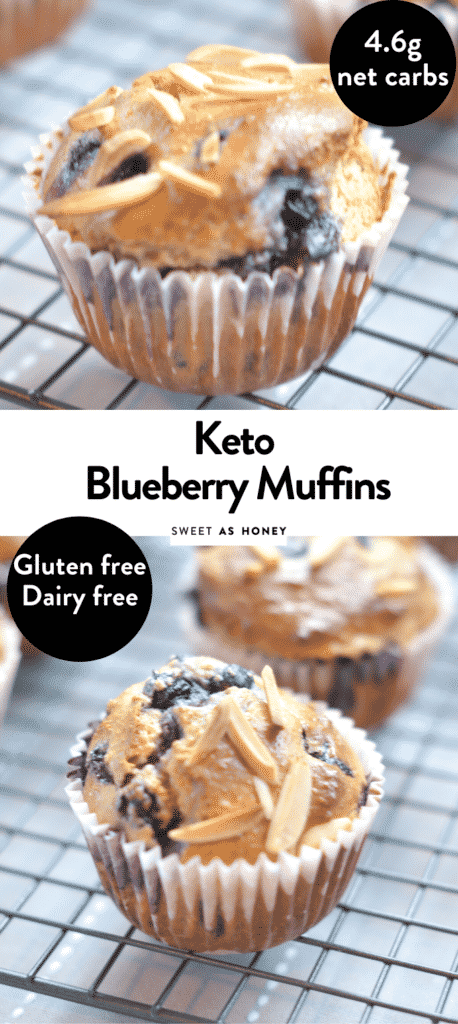 Blueberry muffins keto