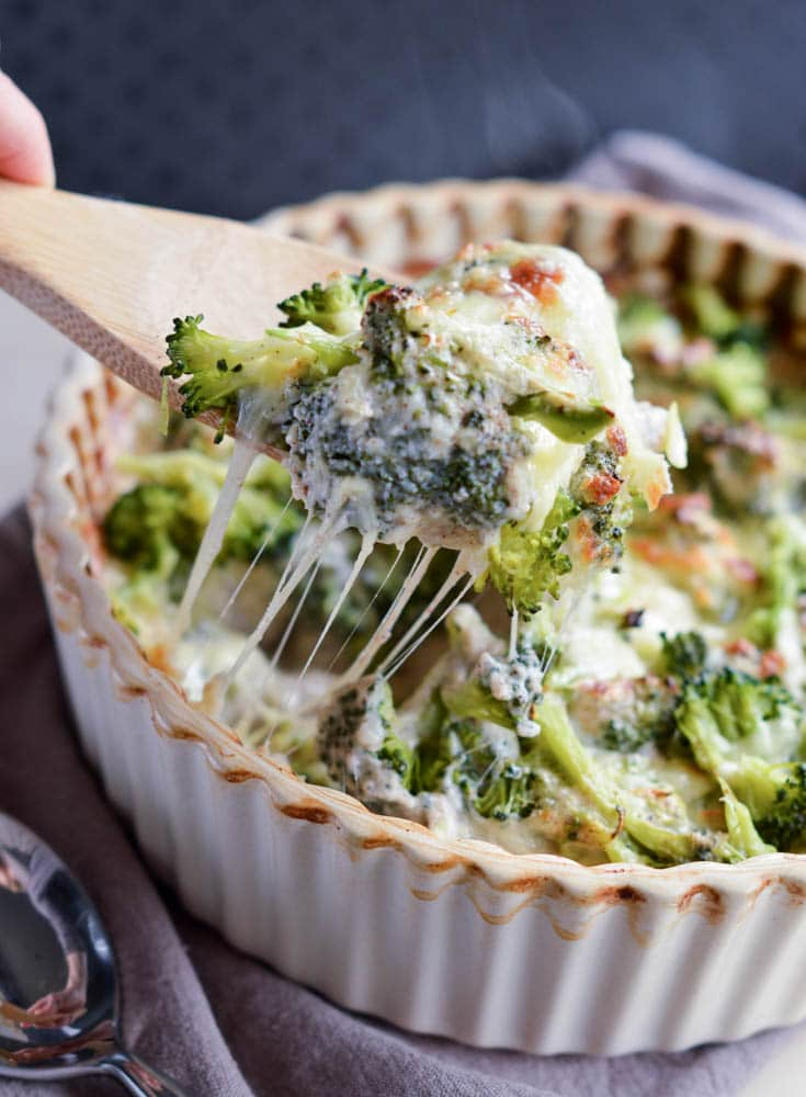 Broccoli Quinoa Casserole with Gluten free white sauce