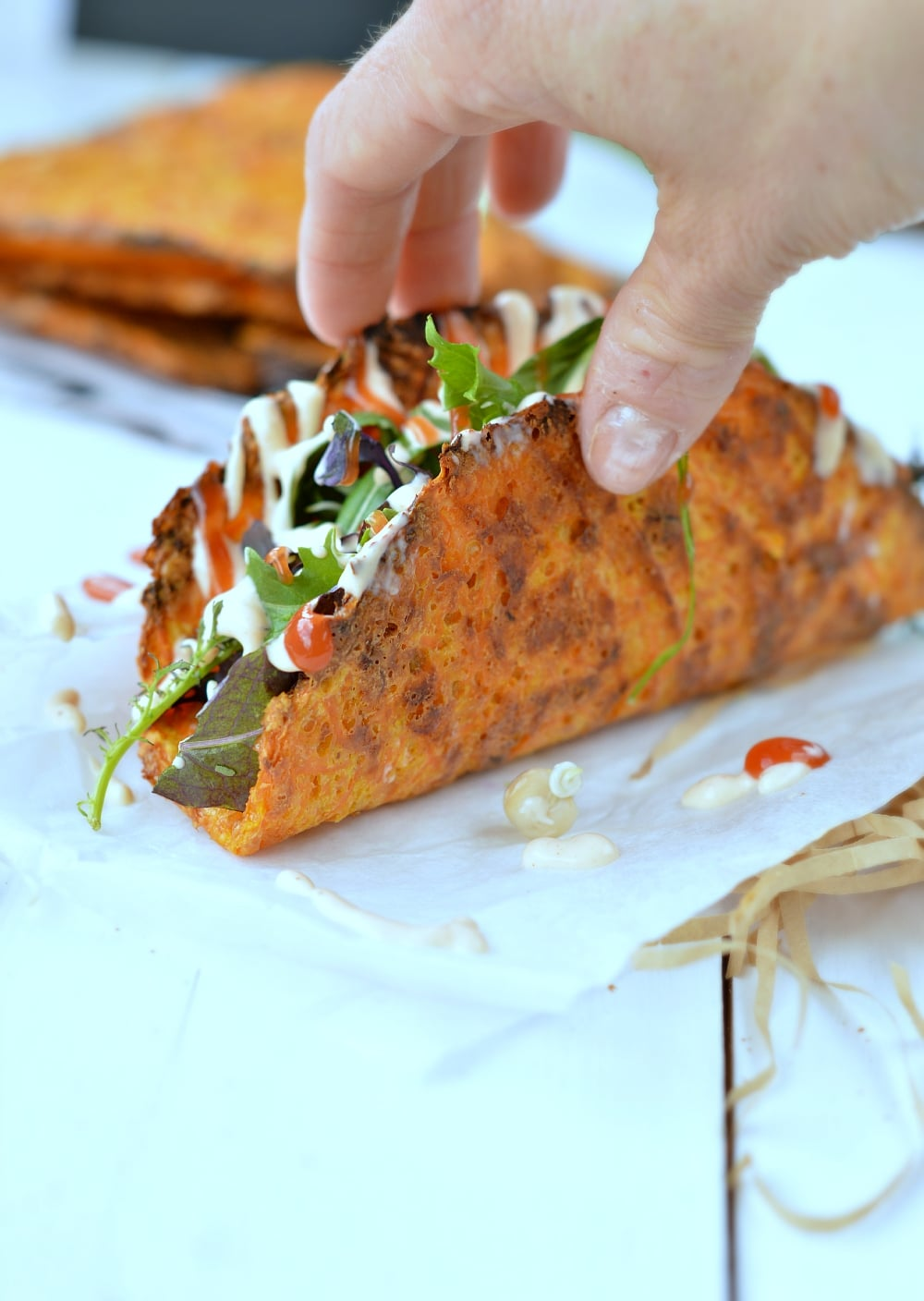 Carrot Taco Shells - low carb 4 ingredients