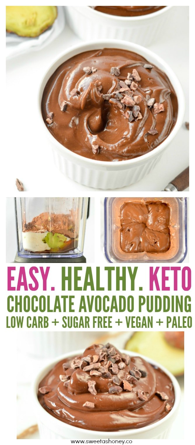 Chocolate avocado pudding paleo