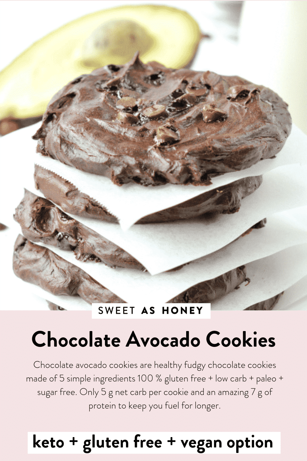 Chocolate Avocado Cookies Keto