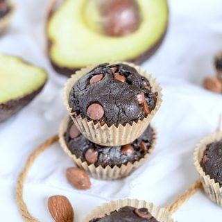 chocolate avocado muffins