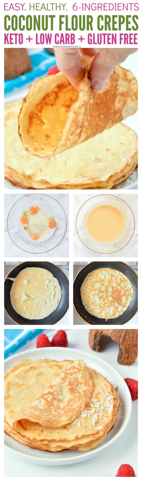 Coconut Flour Crepes - Easy Low Carb
