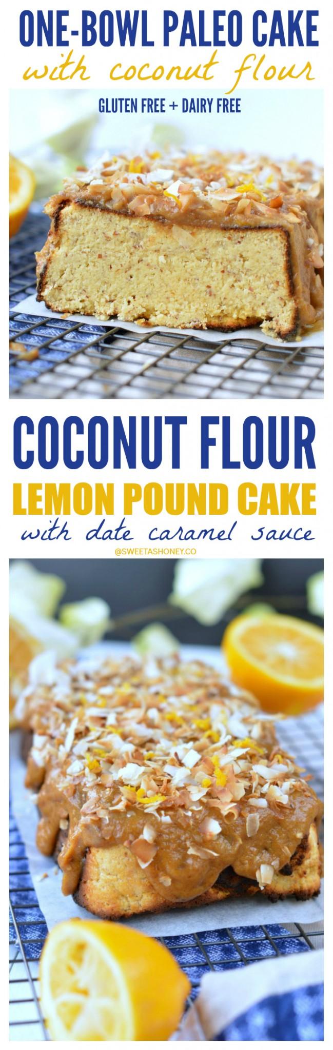 paleo lemon coconut cake