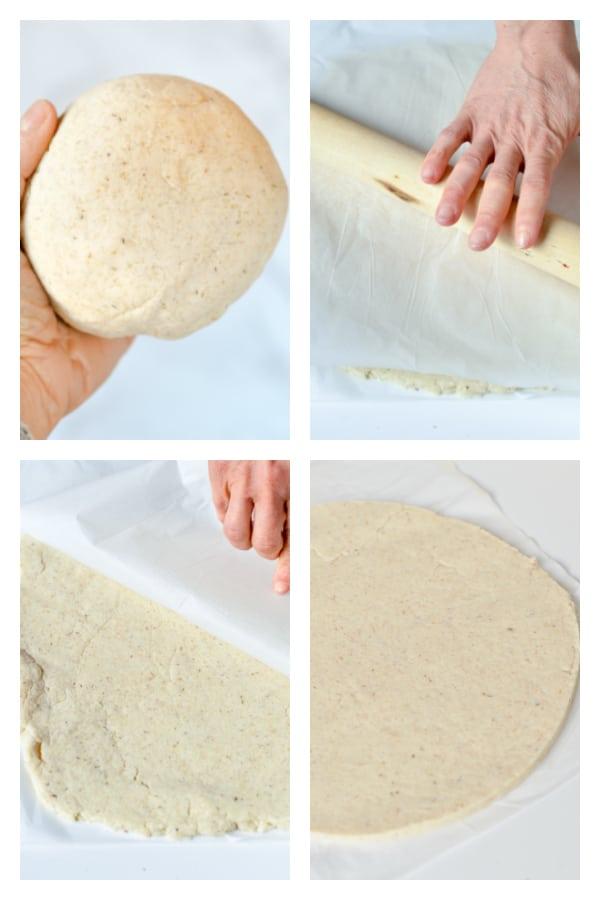 Coconut Flour Pizza Crust rolling tips