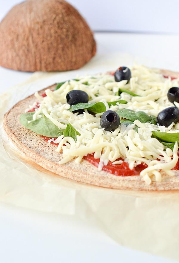 Coconut Flour Pizza Crust vegan gf
