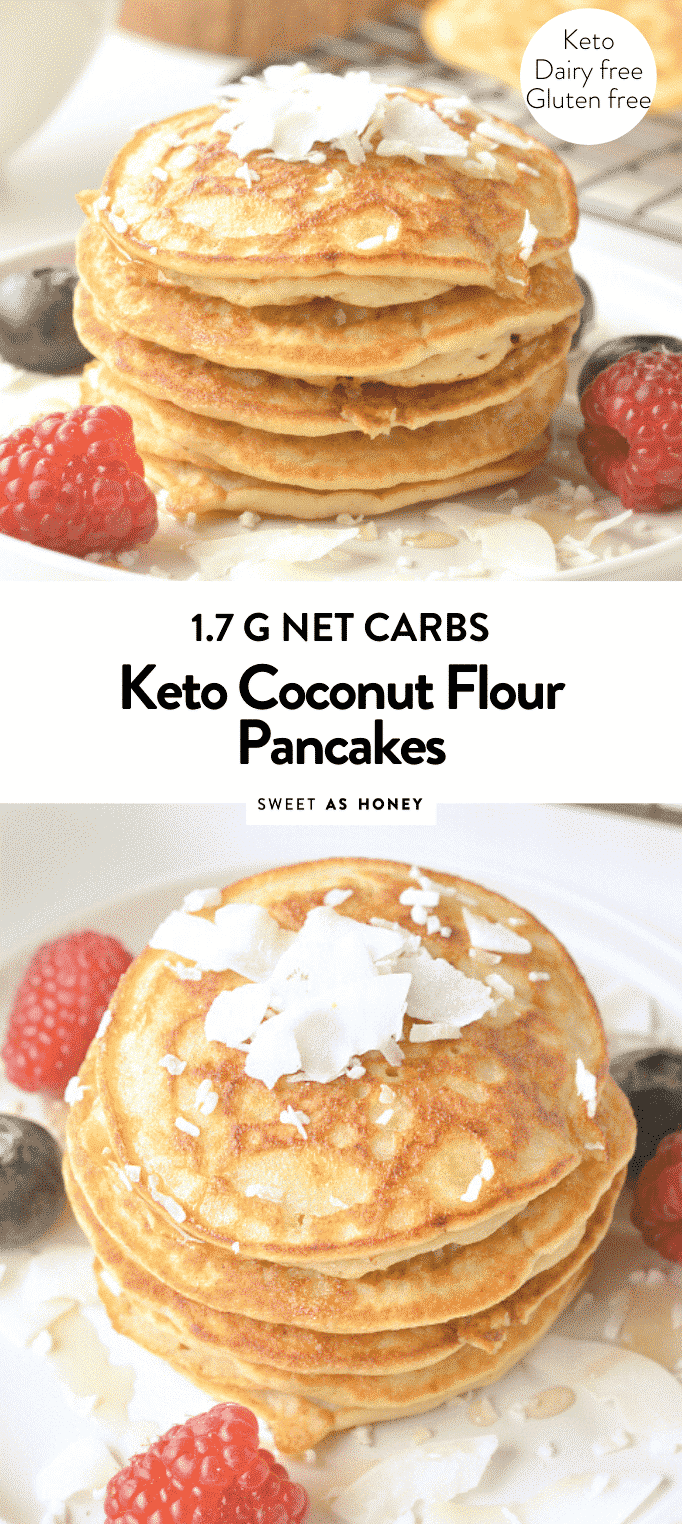 KETO COCONUT FLOUR PANCAKES easy, healthy 1.7 g net carbs #ketopancakes #keto #coconutflour #glutenfree #dairyfree #fluffy #best #videos #lowcarb
