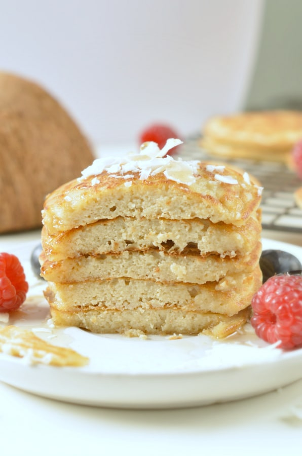 Low carb coconut flour pancakes