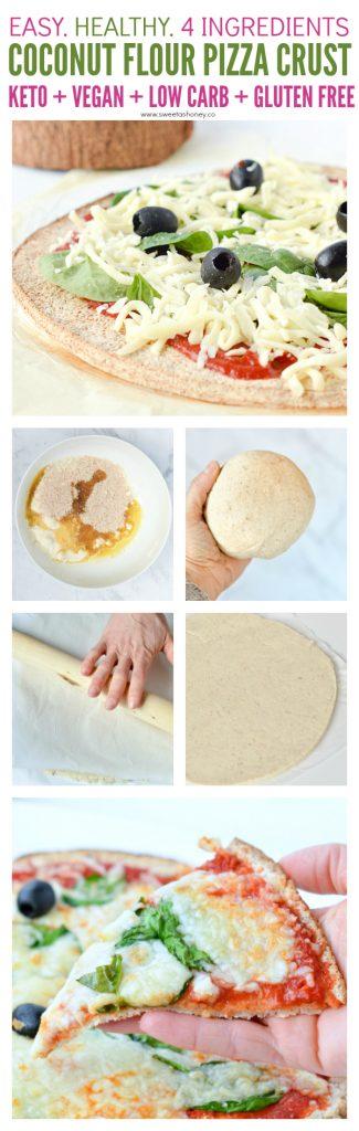 Coconut flour pizza crust vegan, paleo gluten free