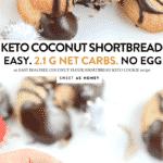 KETO COCONUT FLOUR SHORTBREAD #keto #ketocookies #shortbrad #coconutflour #ketovegan #vegan #cookies #ketoshortbread