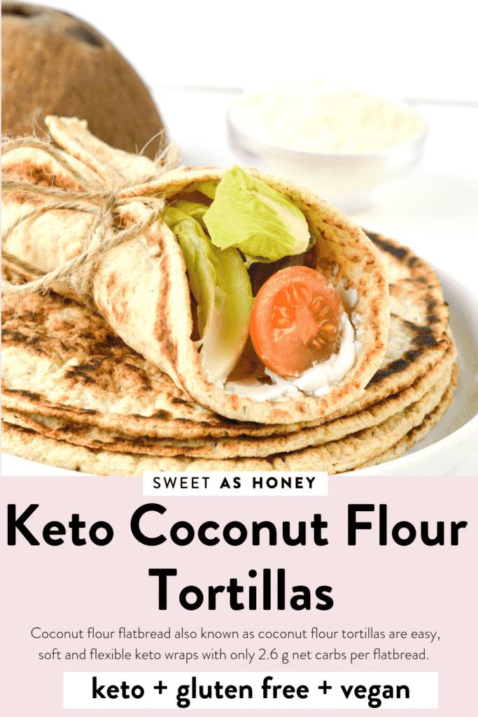 KETO COCONUT FLOUR TORTILLAS NO EGGS VEGAN