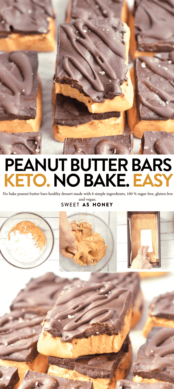 NO BAKE PEANUT BUTTER BARS healthy keto