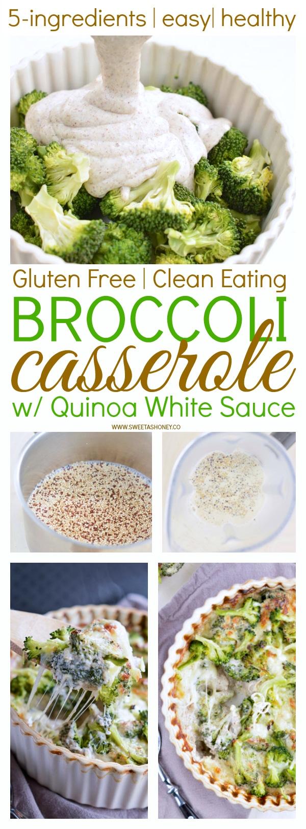 Creamy Broccoli Quinoa Casserole gluten free