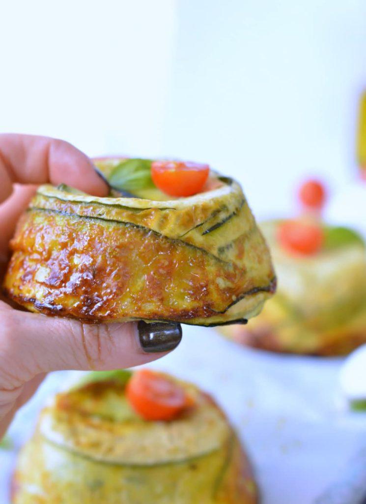 Crustless Zucchini Quiche with Pesto & Parmesan +Video!