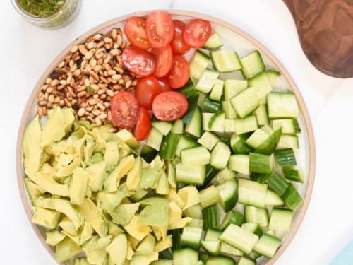 Cucumber Avocado Tomato Salad