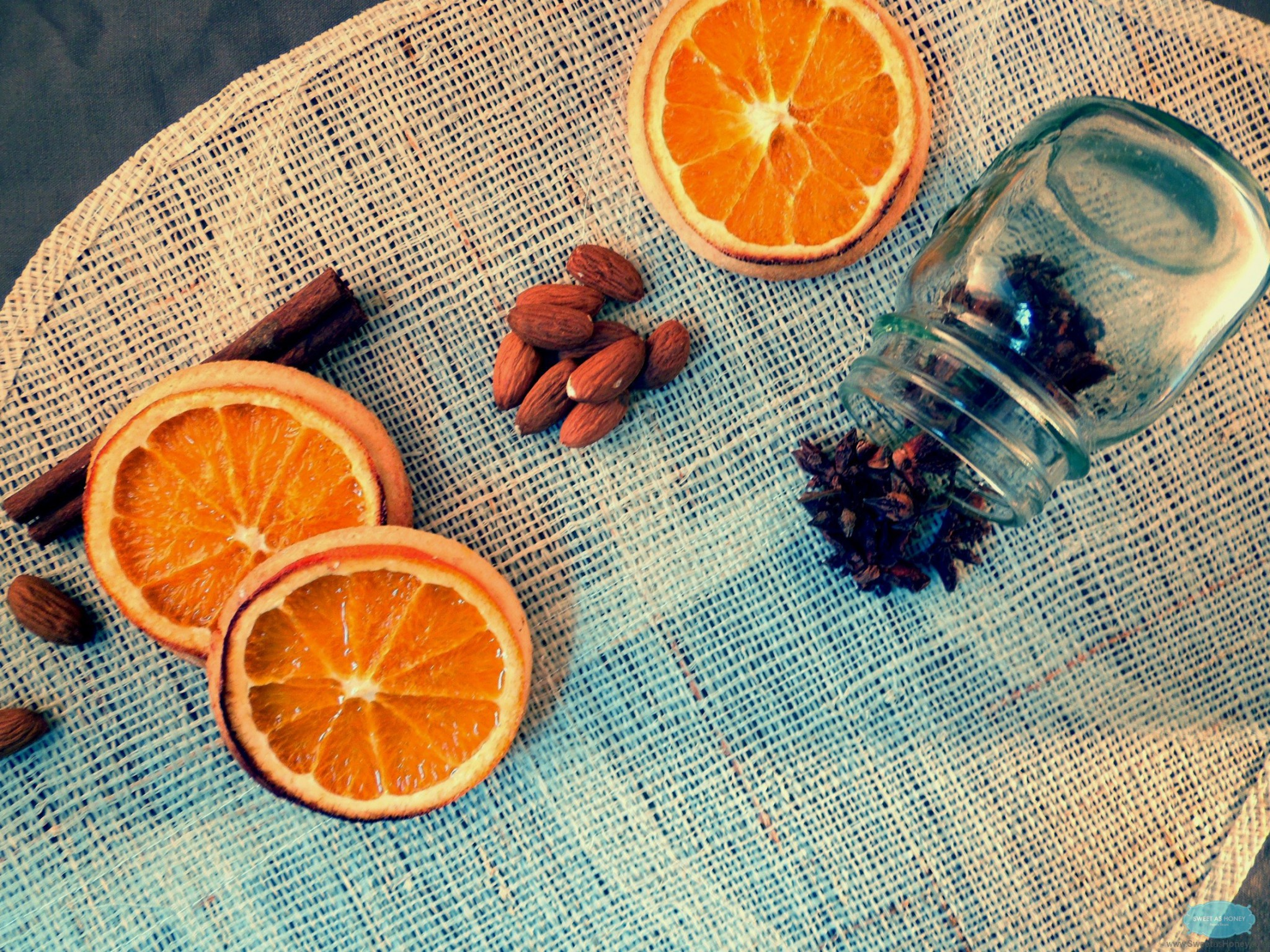 orange spice shortbread