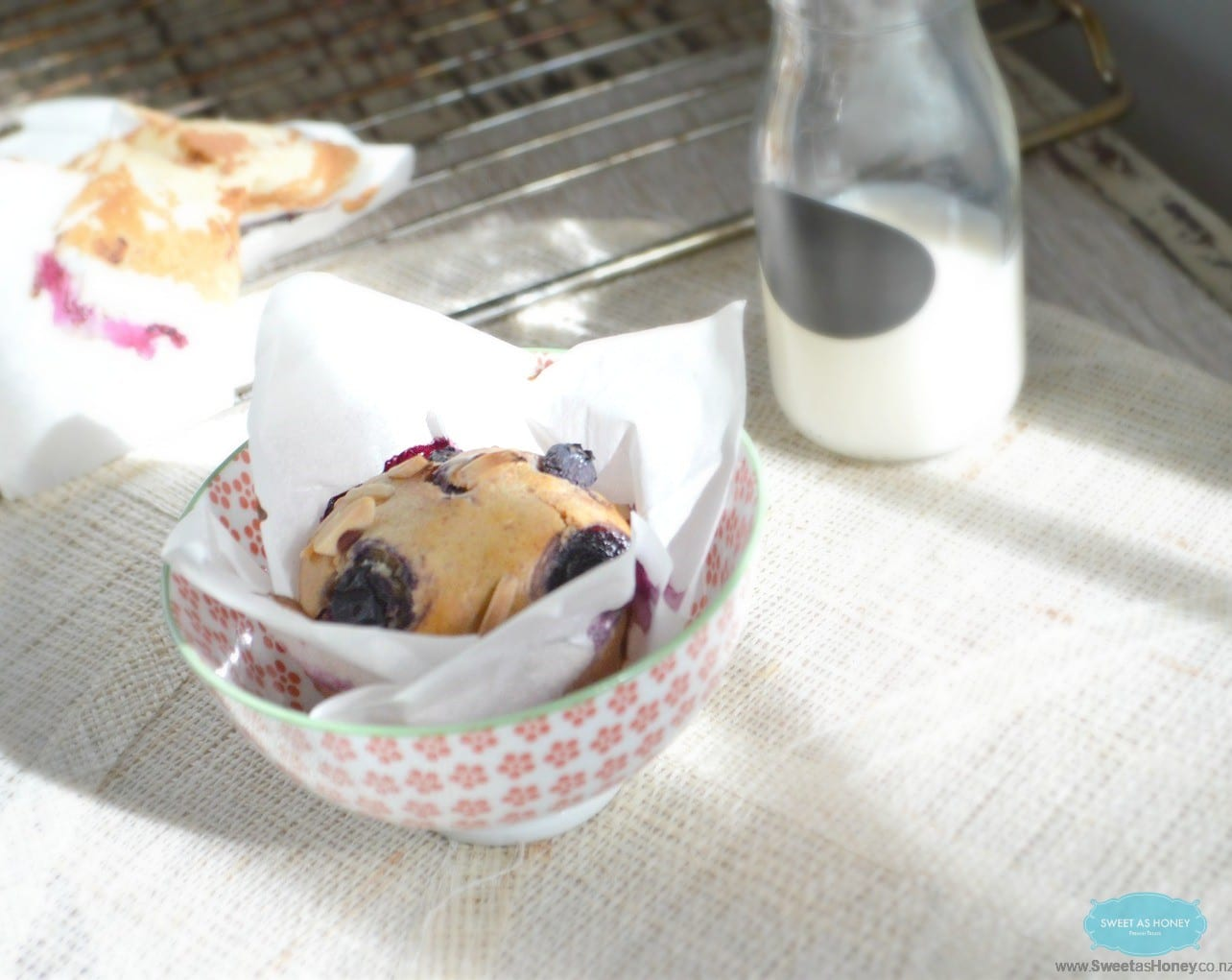 Blueberry & Almond Muffins