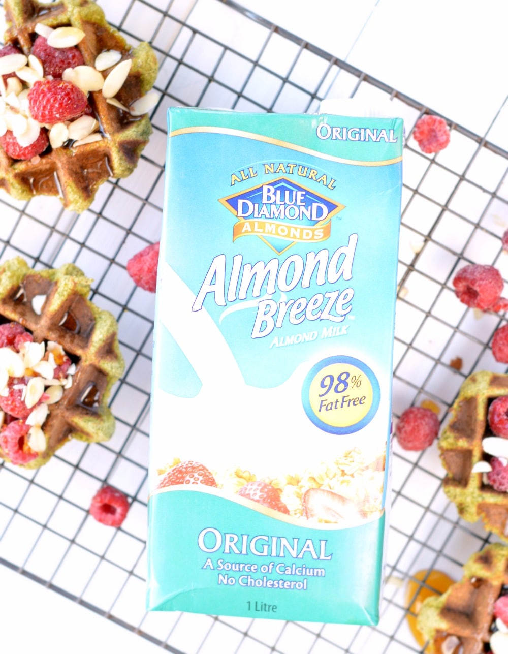 paleo waffles with almond milk from almond breeze