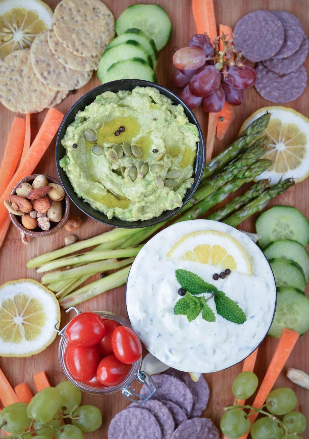 Vegan Tzatziki Sauce and Vegan Platter