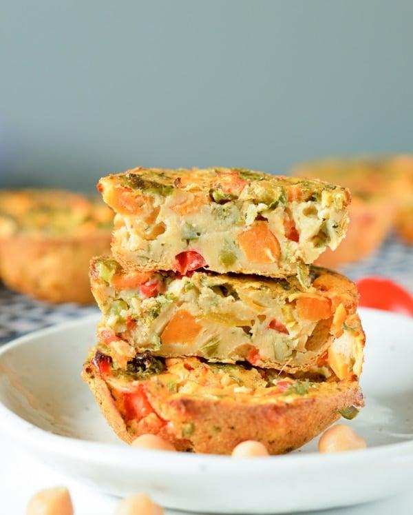 Chickpea flour frittata - Vegan, Gluten free