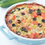 Quinoa Zucchini Pizza Bake