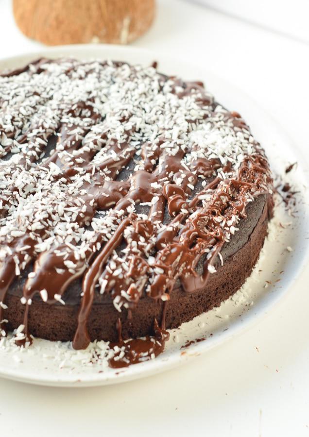 Keto chocolate birthday cake
