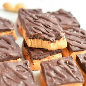 NO BAKE PEANUT BUTTER BARS healthy keto
