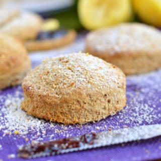 lemon coconut wholewheat scones