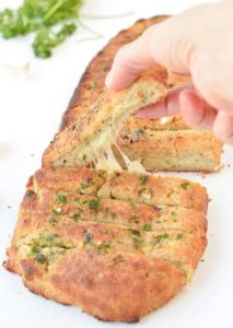 KETO GARLIC BREAD Easy, Cheesy Stuffed bread sticks #ketogarlicbread #ketobread #almondflour #easy #lowcarb #cheesy #quick #best