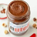 Homemade sugar free nutella low carb, keto hazelnut spread. Like a real nutella spread this homemade nutella recipe is creamy, chocolaty, rich and easy to spread on toast. #nutella #healthybreakfast #keto #lowcarb