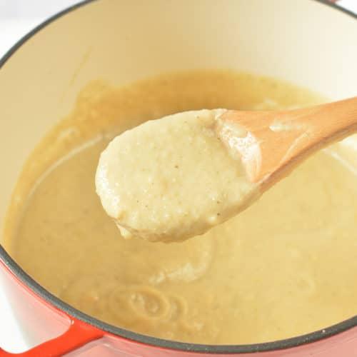 Keto Roasted Cauliflower Soup