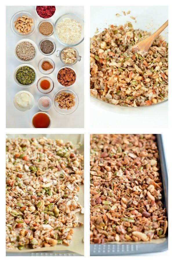 how to make keto granola recipe