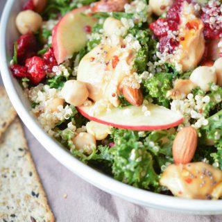 Easy Kale Quinoa Salad Christmas