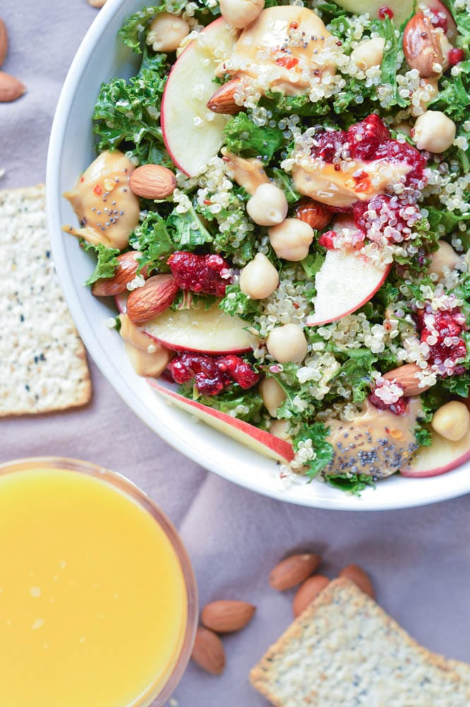 Easy Kale Quinoa Salad Christmas