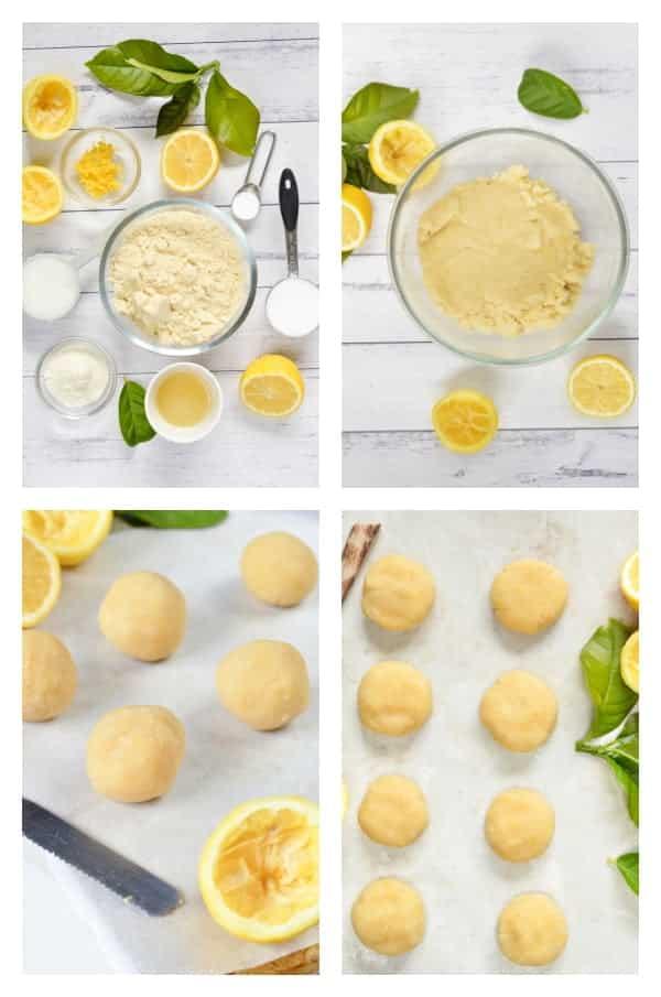 Keto lemon cookies recipe with almond flour