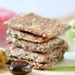 Flaxseed crackers