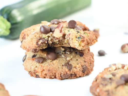 Keto Soft Zucchini Cookies with Chocolate Chip