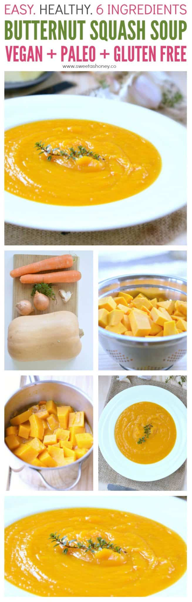 Healthy Butternut Squash Soup Vegan Recipe