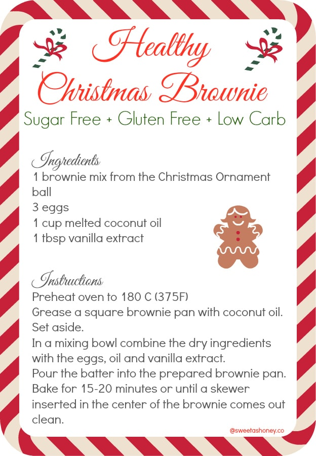Healthy christmas brownie mix